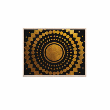 "Matt Eklund ""Gilded Confetti"" Gold Geometric KESS Naturals Canvas (Frame not Included)"