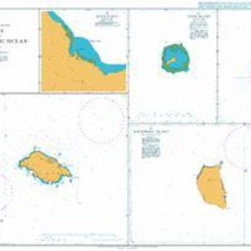British Admiralty Nautical Chart 991: Plans in the South Pacific Ocean