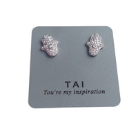 Tai Hamsa Earrings - Silver Stud Earrings