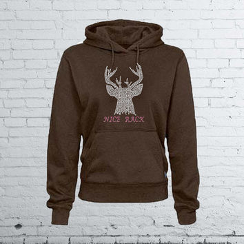 Women's Bling Hoodie - Nice Rack - Hunting Shirt