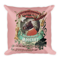 Wolfgang Amadeus Mozart Classical Music Cool Moose Square Pillow