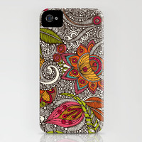 Random Flowers iPhone Case by Valentina | Society6