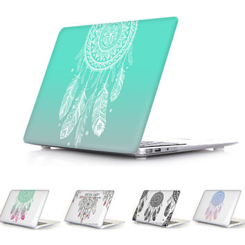 2016 Colorful Nice Fashion Color Print Cover Case For Apple Macbook Pro Retina 13 12 15 Macbook Air 11 13 Dream Catcher Pattern