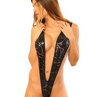 Sassy Metalic Naked Sling Shot Bikini-Stripper Clothes