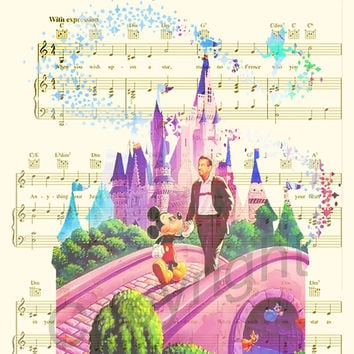 Walt Disney and Mickey Mouse Art Print