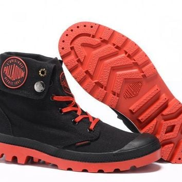 Palladium Baggy Women Turn High Boots Black Red