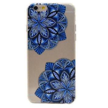 blue lace floral Case Cover for Apple iPhone 5s 5 SE 6 6S 6 Plus 6S Plus +Nice Gift Box DC080701