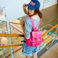 Candy Color Backpack Red RDC643