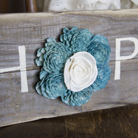 "Reclaimed Pallet Wood Sign - HOPE 18""X7"""