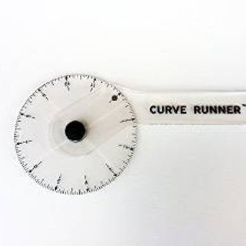 "Curve Runner Ruler Wheel 12"" Measuring Tool"