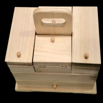 Keepsake Box, Make-up Organizer, Memory Keeper, or Jewelry Box for Children or Adults, Made to Order