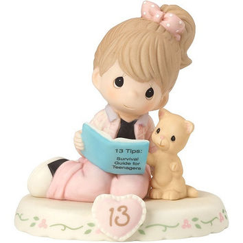 Precious Moments Growing In Grace Age 13 Brunette Girl Figurine