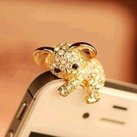Koala Hot Sales Cute Dust Plug 3.5mm Headphones Gadgets Stubs For Iphone 6 5s For Samsung S7 xiaomi Universal Push-button phones