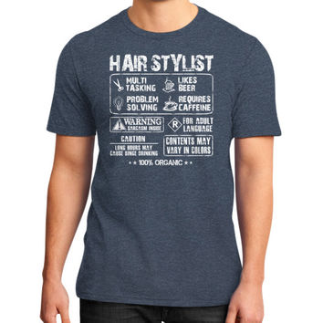 Hair stylist work District T-Shirt (on man)
