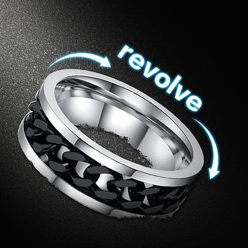 THE LINK Stainless Steel Revolving Ring