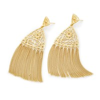 Ana Tassel Statement Earrings in Gold | Kendra Scott