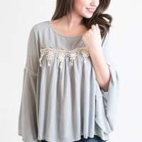Lace Some Blue On Me Tunic