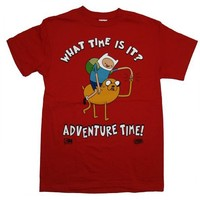 Adventure Time What Time Is It Finn And Jake Cartoon T-Shirt Tee