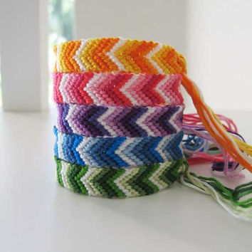 Arrow Chevron Woven Wish Bracelets Friendship