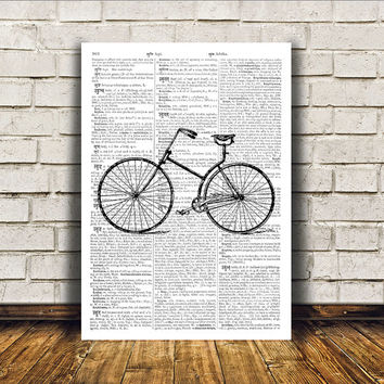 Vintage print Bicycle poster Modern decor Antique art RTA354