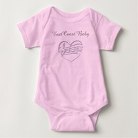 "East Coast Baby Music Baby Shirt""Lighthouse Route"" Tee Shirt"