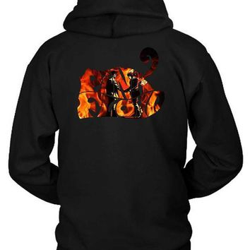 Pink Floyd Wish You Were Here Title Burn Hoodie Two Sided