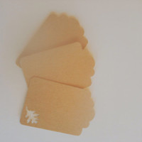 Oak Leaf Gift Tags for Weddings Bridal or Baby Shower Name Cards or Place Holders Set of 20 Kraft Paper Tags
