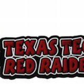 TT Texas Tech Red Raiders Keychain Raised Rubber Logo Keychain Keyring NCAA