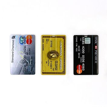 Bank Credit Card Shape USB Flash Drive