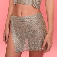 After Party Skirt - Gold