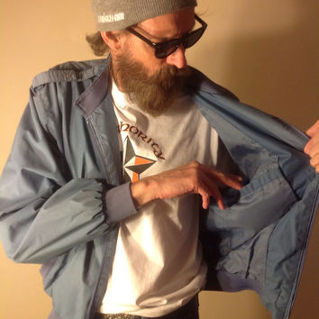 Vintage Members Only Jacket light blue