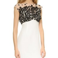 Floral Bodice Cocktail Dress