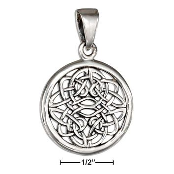 STERLING SILVER ROUND CELTIC KNOTWORK PENDANT