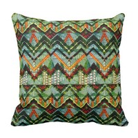 African Style Abstract Design Throw Pillow