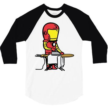 iron man 3/4 Sleeve Shirt