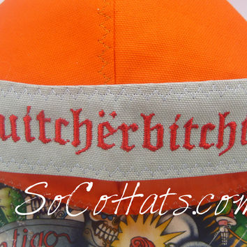 Quitcherbitchin Embroidery for the Band of your Cap
