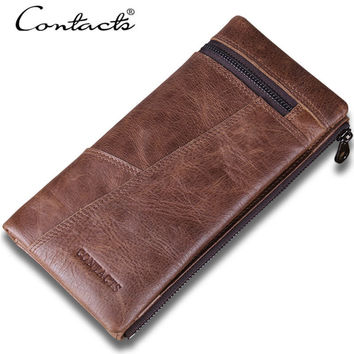 Men Leather Stylish Patchwork Wallet [9026453699]