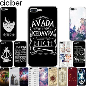 ciciber Harry Potter Hogwarts Pattern Design Soft Silicone Phone Cases Cover for Iphone 7 6 6S 8 Plus 5S SE X Coque Fundas Capa