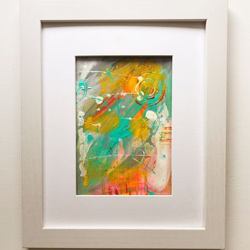 009 Original Abstract  Art on Paper. Free-shipping within USA.