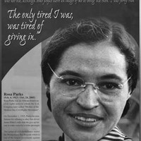 Rosa Parks Quote Poster 24x36
