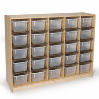Whitney Brothers 25 Tray Storage Cabinet WB3225