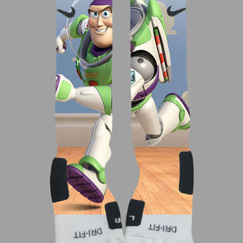 Buzz Lightyear Toy Story Custom Nike Elite Socks - Socktimus Prime Custom Nike Elites