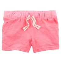 Neon Easy Pull-On Slub Jersey Shorts