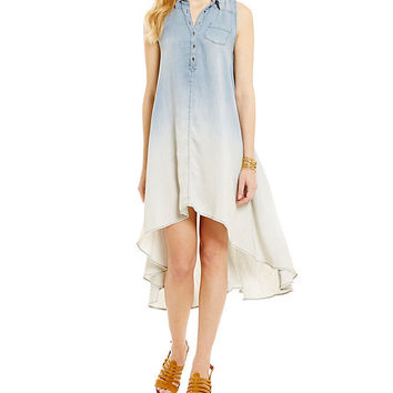 Chelsea & Theodore Ombre Shirt Dress | Dillards