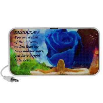 MoonGazer DESIDERATA  mini speaker from Jan4insight* on Zazzle