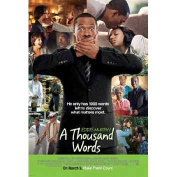 A Thousand Words Movie poster Metal Sign Wall Art 8in x 12in