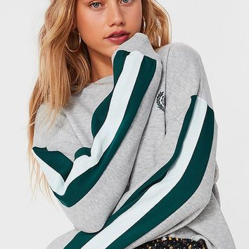 UO Embroidered Globe Crest Sweatshirt   Urban Outfitters