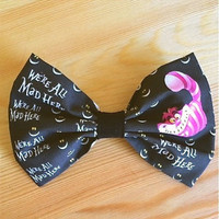 Alice In Wonderland Cheshire Cat Inspired Hair Bow ... OR ... Bow Tie