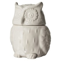 Threshold™ Stoneware Figural Owl Cookie Jar - White