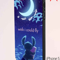 Hawaiian Culture In Stitch Peter Pan Flying Quote iPhone 5 Case